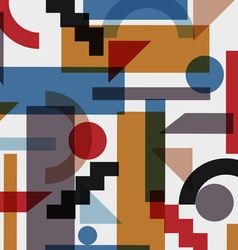 Geometric abstract background in cubism style vector