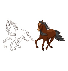 Horse brown vector image