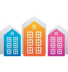house stickers vector image vector image
