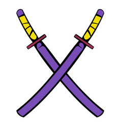 Japanese kendo sword icon icon cartoon vector