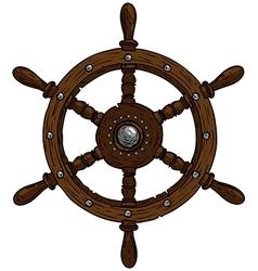 Marine theme steering wheel vector