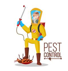 Pest control service sanitation cleaner vector