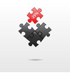 Puzzle parts vector