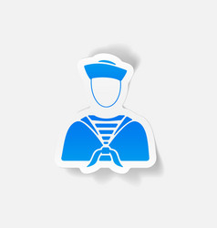 realistic design element sailor vector image vector image