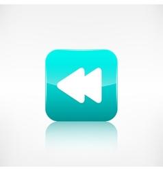 Reverse or rewind icon media player vector