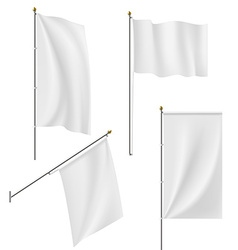 Set of flags and banners isolated on white vector