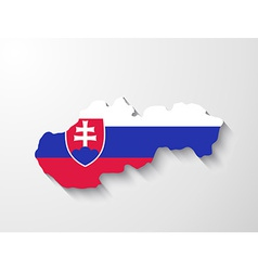 Slovakia map with shadow effect presentation vector image