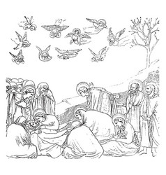 The entombment of christ is one of the most vector