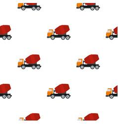 Truck concrete mixer pattern flat vector