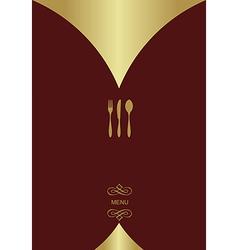 Vintage menu background vector