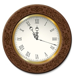 Vintage wall clock vector