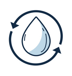 water drop with arrows around vector image vector image