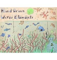 Water elements vector