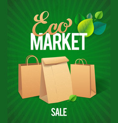 Eco market sale vector