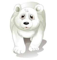 A giant white polar bear vector image