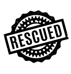 Rescued rubber stamp vector