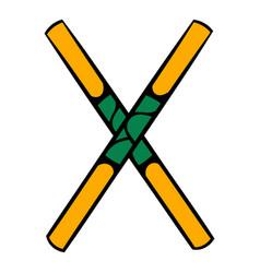 Wooden sword bokken icon icon cartoon vector