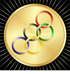 Olympic golden medal vector