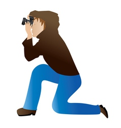 Photographer icon vector