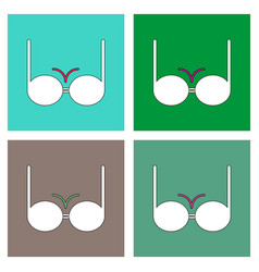 flat icon design collection sexy women brassiere vector image