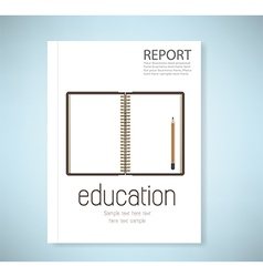 Cover report open notebook vector