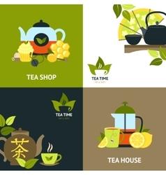 Tea Design Concept Set vector image