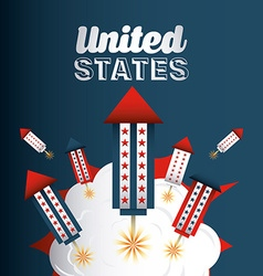 Inited states celebration vector