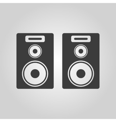 The audio icon speaker and music sound stereo vector