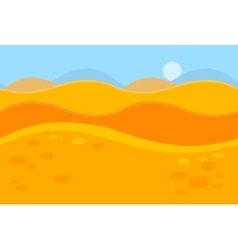 Cartoon landscape of yellow desert dunes for game vector