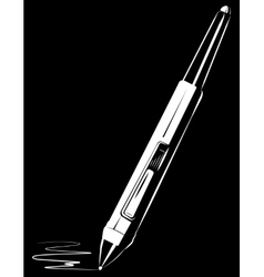 Stylus on black background vector