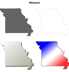 Missouri outline map set vector