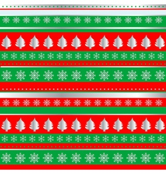 Wrapping christmas paper vector
