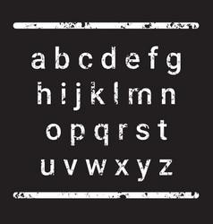 Alphabet letters set over grunge textured vector