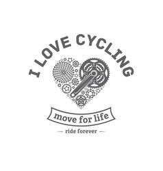 Bicycle emblem vector