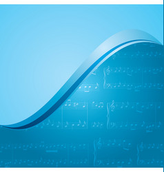 Blue music background - pattern vector