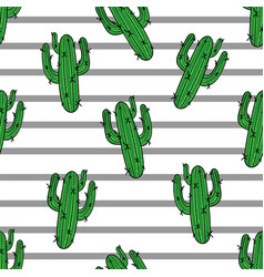 Cactus seamless pattern modern fashion vector