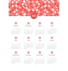 Calendar 12 months 2015 vector