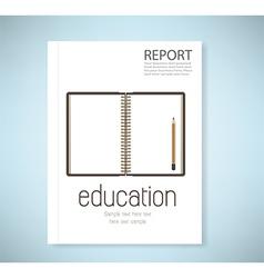 Cover report open notebook vector