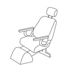 Dentist chair medicine single icon in outline vector