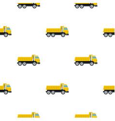 Dumper truck pattern flat vector