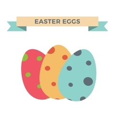 Easter eggs cartoon style vector image