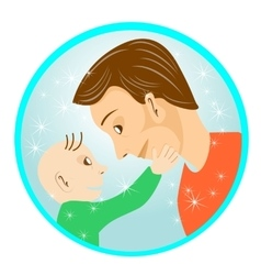 father and son looking at each other vector image