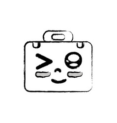 Figure kawaii cute funny briefcase and medical kit vector
