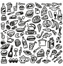 Food - doodles set vector
