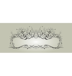 Frame with floral elements for registration 2 vector