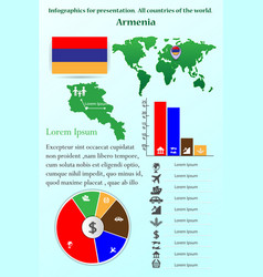 Infographics for presentation all countries vector