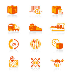 logistics icons - juicyy series vector image vector image