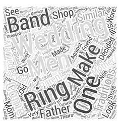 Mens wedding bands word cloud concept vector