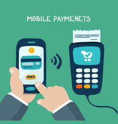 Mobile payments with terminal vector