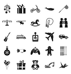 modern toy icons set simple style vector image